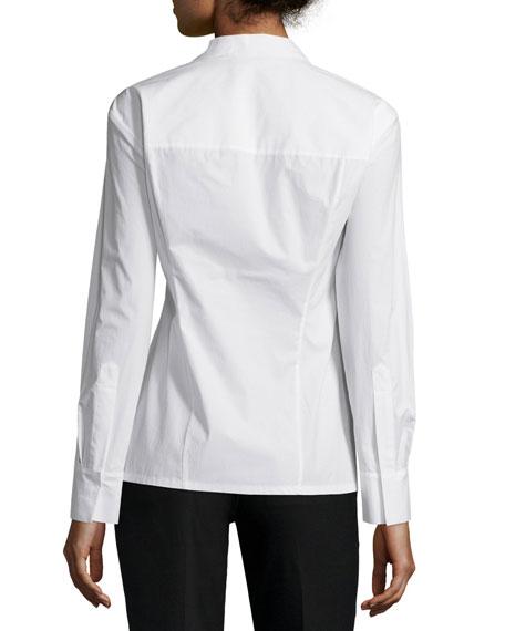 Long Sleeve Tailored Shirt, Ivory