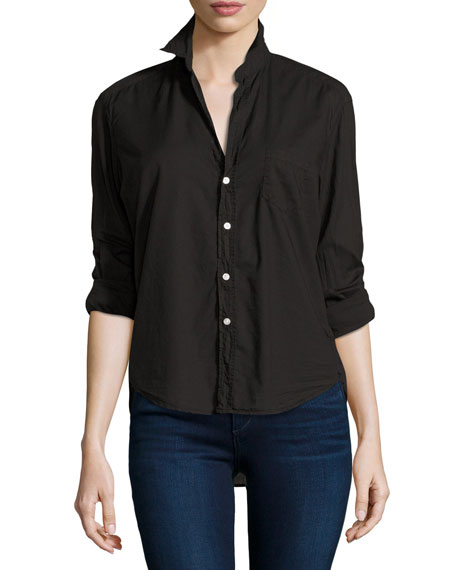 Frank & Eileen Eileen Button-Front Shirt, Black