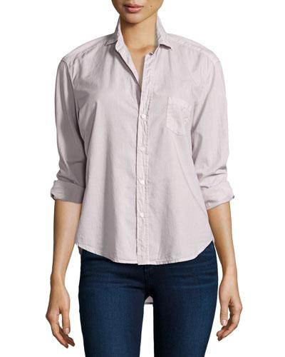 Eileen Button-Front Shirt, Dusty Pink