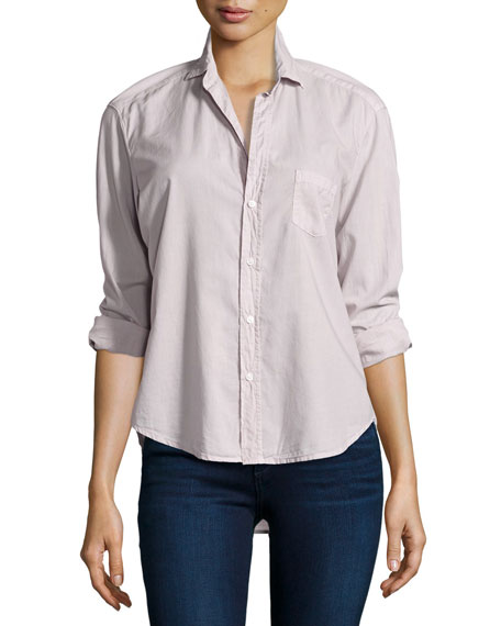 Frank & Eileen Eileen Button-Front Shirt, Dusty Pink