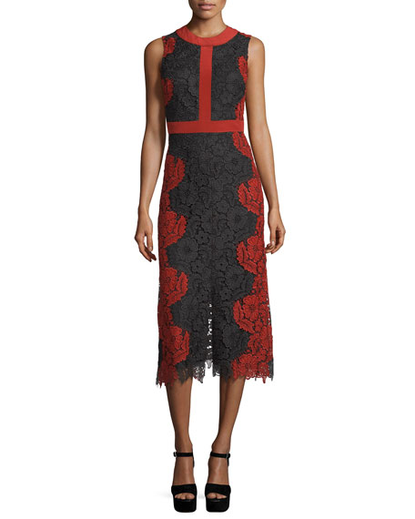 Ivonne Floral Lace Sheath Dress