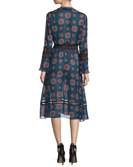Marrakech Printed Chiffon Midi Dress