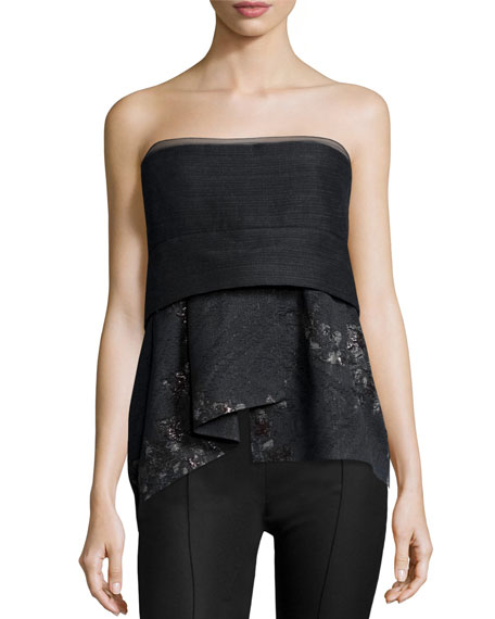 Short Bustier Top, Charcoal