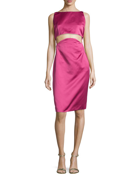 Two-Part Cropped Dress, Raspberry