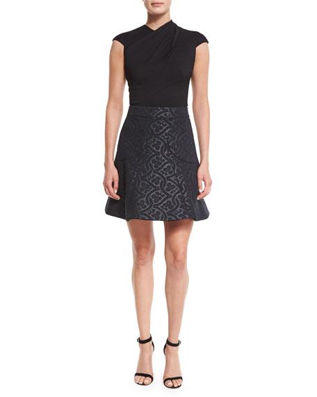Clover Scuba Circle Skirt