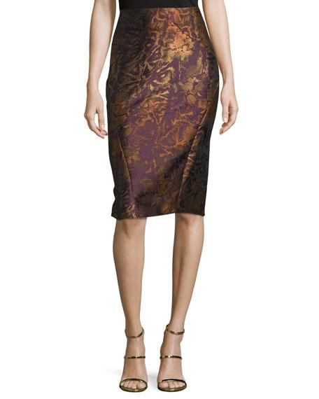 Zac PosenContour Pencil Skirt, Amethyst Multi