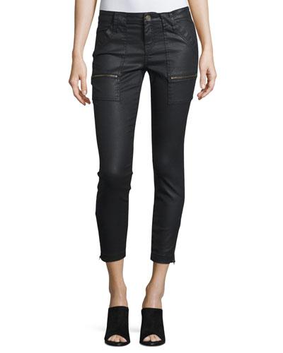 Park Coated-Denim Cropped Skinny Jeans