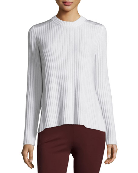 Amanda Cashmere Pullover Sweater, Ivory