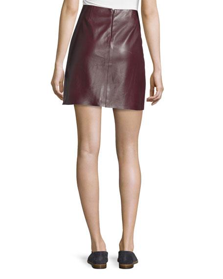 Irenah Wilmore Leather Miniskirt