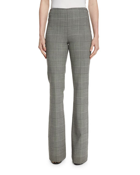 Theory Demitria DF Portland Plaid Pants