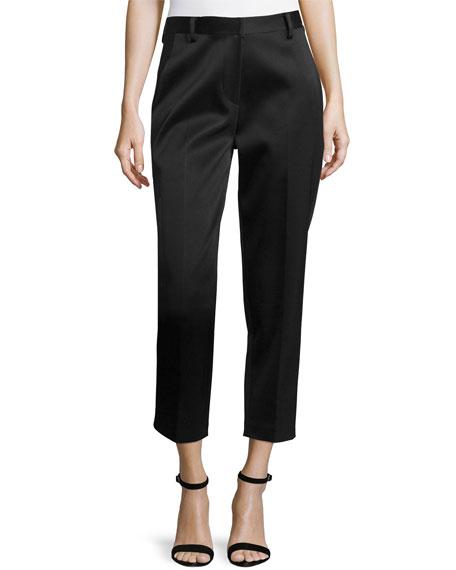 Donna Karan Menswear Tailored Creased Trousers, Black