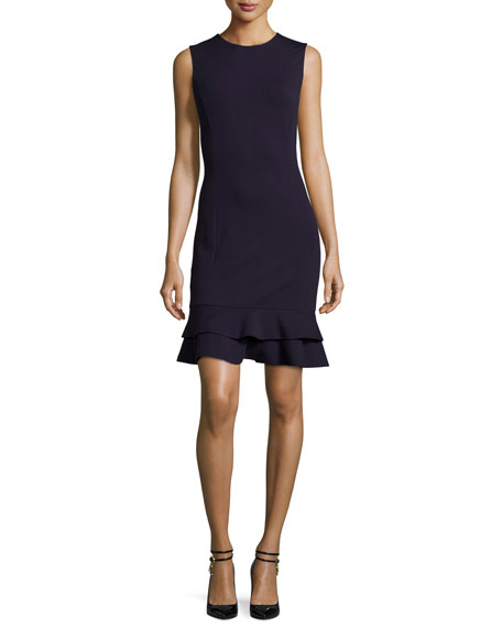 Diane von Furstenberg Jacey Tiered Flounce-Hem Dress, Black