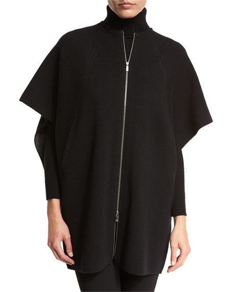 Lafayette 148 New York Two-Tone Oversize Stretch-Cashmere Cape
