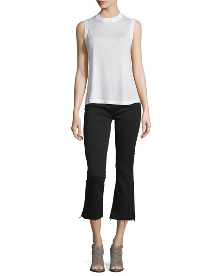 J Brand Selena Cropped Boot-Cut Jeans, Black