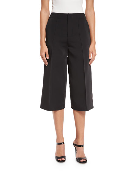 Alexis Jossie Wide-Leg Cropped Pants, Black