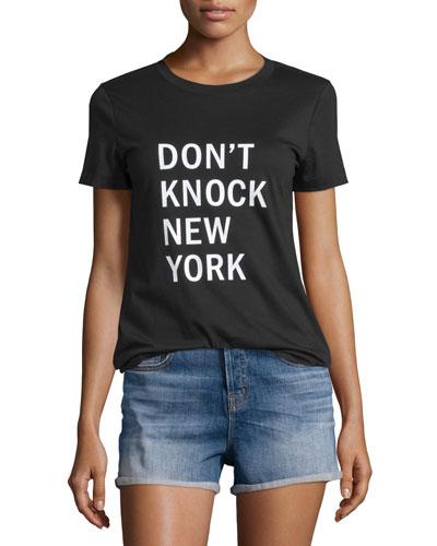 Don't Knock New York Jersey Tee. Black