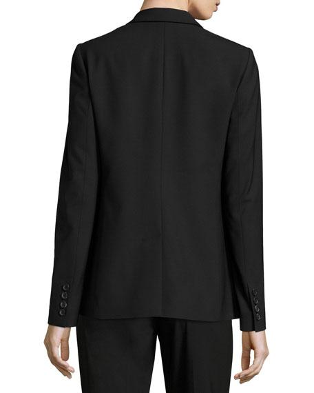 Sloane Tropical Wool Blazer, Black