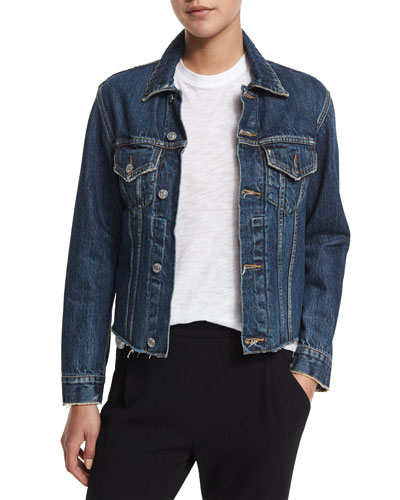 Raw-Edge Denim Jacket, Engineer