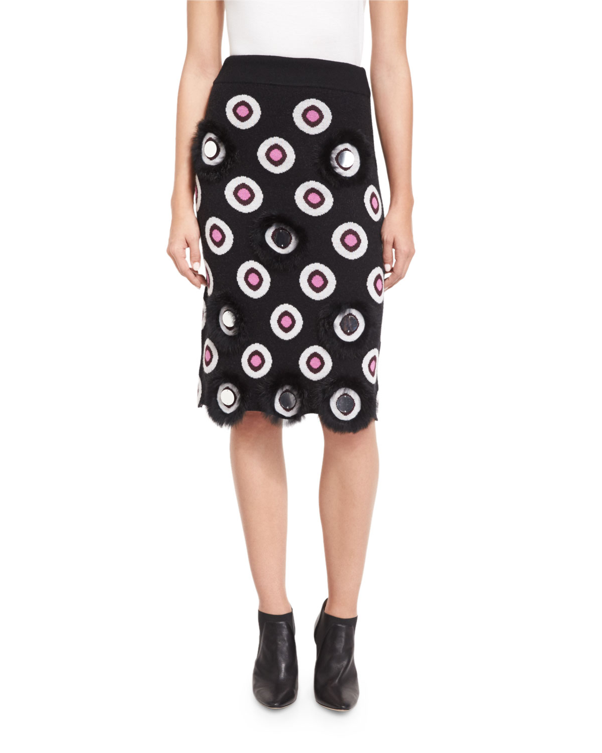 d730fea6a88 Opening Ceremony Eclipse Intarsia Pencil Skirt