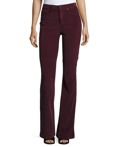 High Rise Bell Canyon Corduroy Pants, Midnight Plum