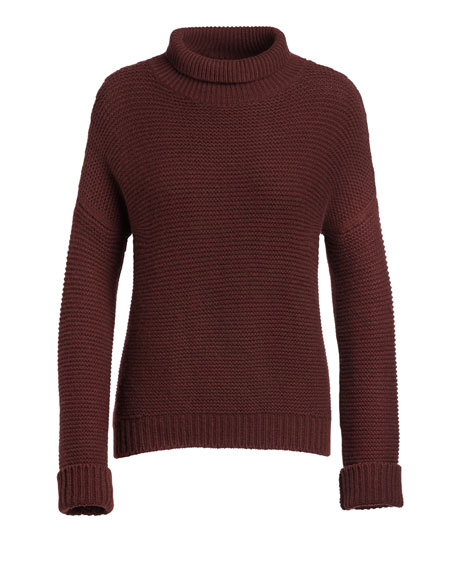 Vince Chunky Cowl-Neck Sweater, Cordovan