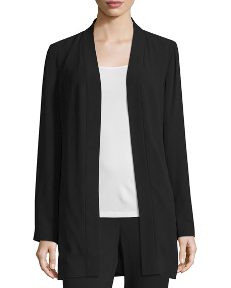 Silk Georgette Kimono Jacket, Petite