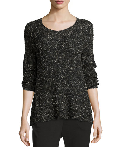 Long-Sleeve Organic Cotton Nubble Top