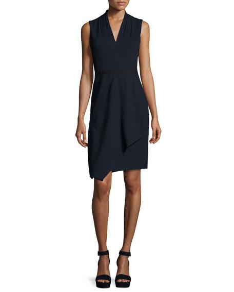 Kobi Halperin Jae Sleeveless Faux-Wrap Dress, Navy