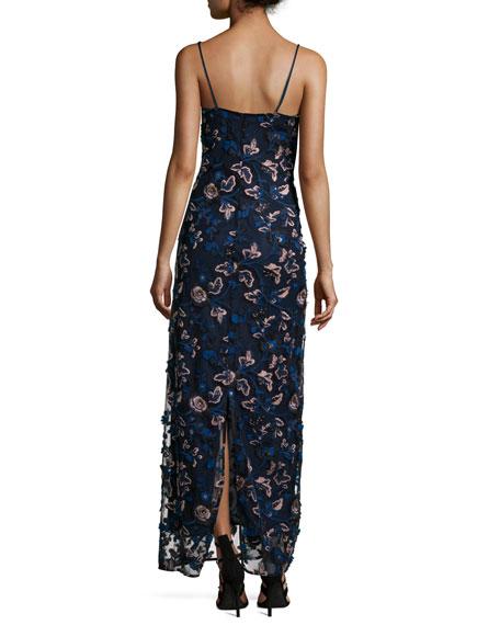 Eva Embroidered Floral Slip Dress