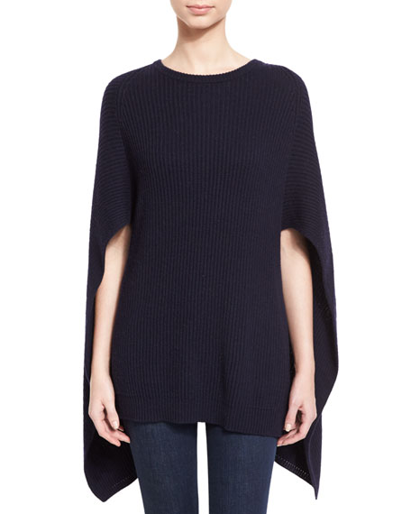 Autumn Cashmere Cashmere-Blend Crewneck Cape