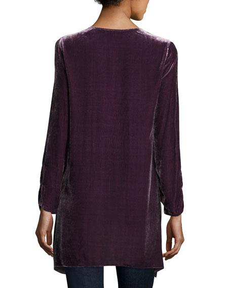 Sassi Long-Sleeve Velvet Tunic