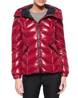 Badete Short Hooded Puffer Coat