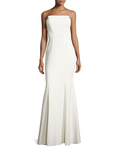 Jill Jill Stuart Strapless Structured Crepe Gown, Off