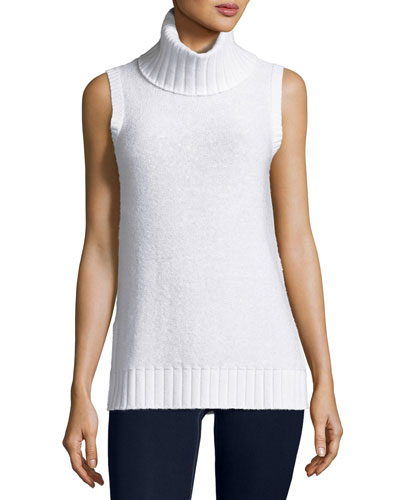 Sequined Cashmere Turtleneck Shell