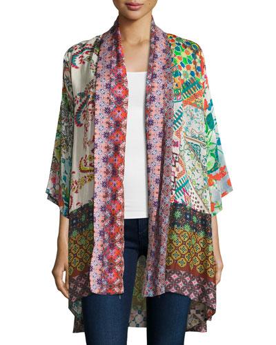 Dream Kimono-Style Printed Jacket