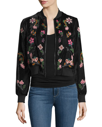 Lonnie Embellished Bomber Jacket