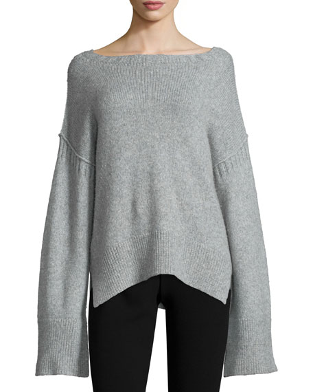 Elizabeth and James Harris Oversized Wool-Blend Sweater, Heather