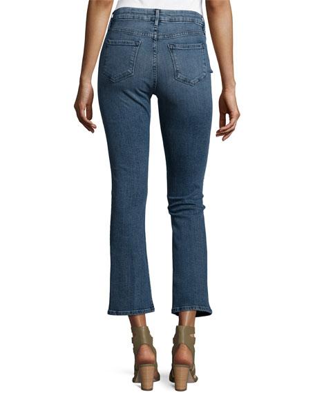 FRAME Le Crop Mini Boot-Cut Jeans, Spring Street