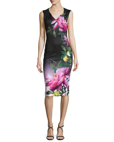 Oldiva Citrus Bloom Midi Dress