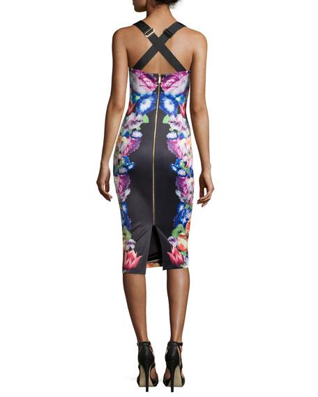 db030e4fbb223 Ted Baker London Deony Floral-Print Buckle-Detail Dress