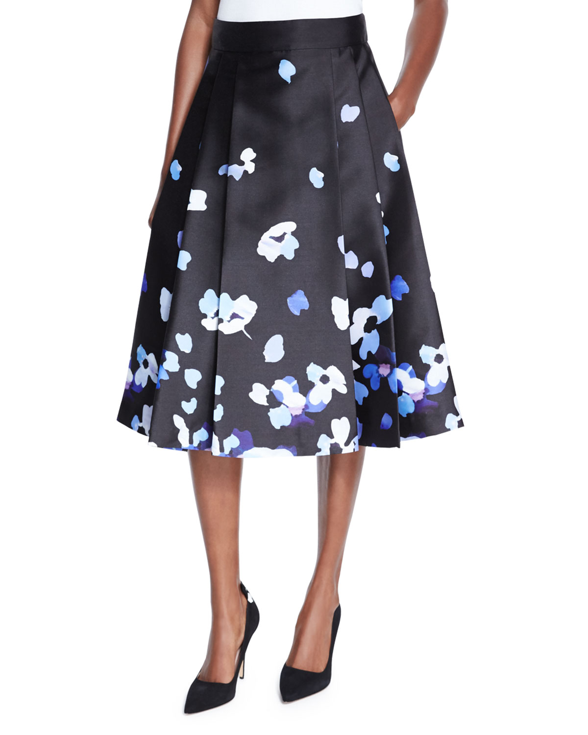 77452353c51 kate spade new york floral satin midi skirt