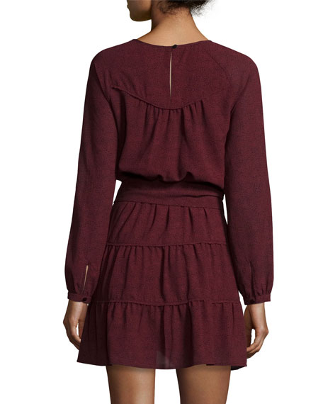Relax Belted Long-Sleeve Dress