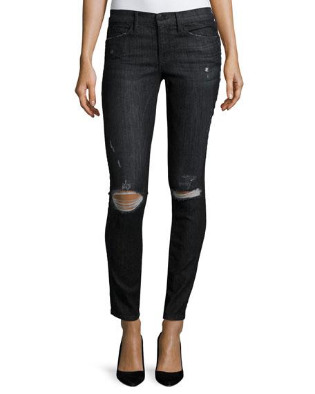 FRAME Le Skinny de Jeanne Distressed Jeans, Knox