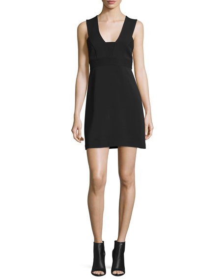 A.L.C. Carmela Ponte Mini Dress, Black