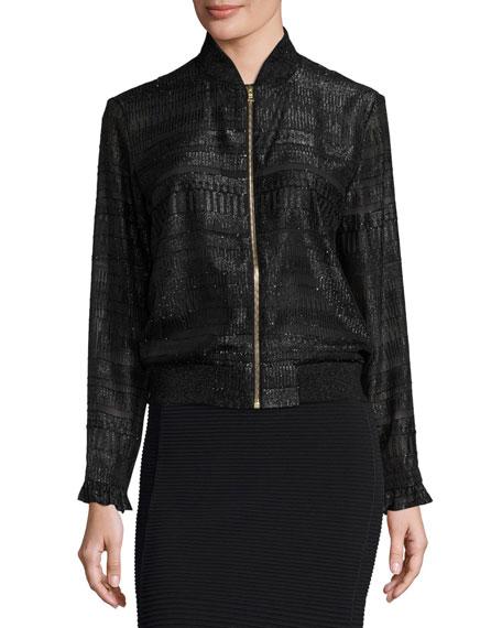 Cityscape Fil Coupe Sonja Bomber Jacket, Black