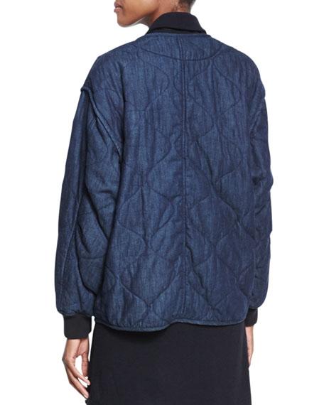 Addison Quilted Denim Jacket, Indigo Compare Price