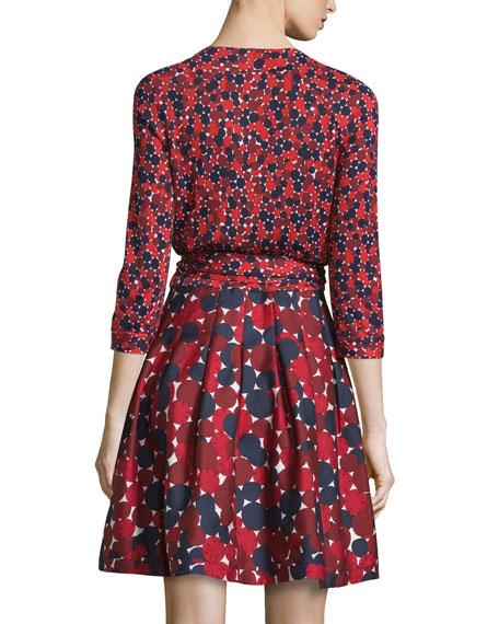 Diane Von Furstenberg Jewel Wrap Dress W Mikado Skirt