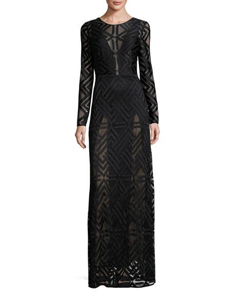 Bcbg long sleeve maxi dress