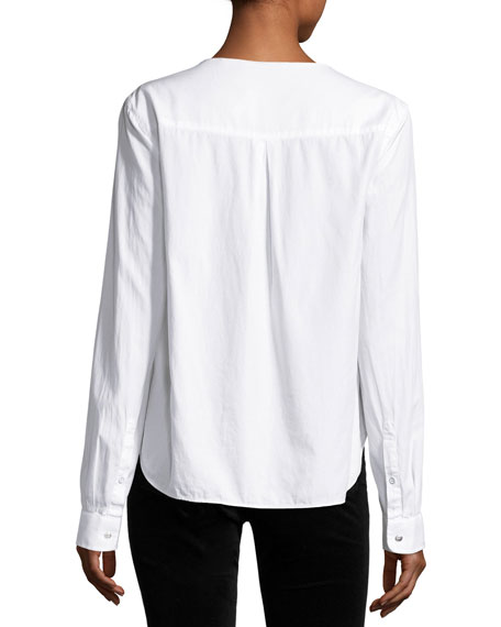 rag & bone/JEAN Drape Poplin Top, Bright White