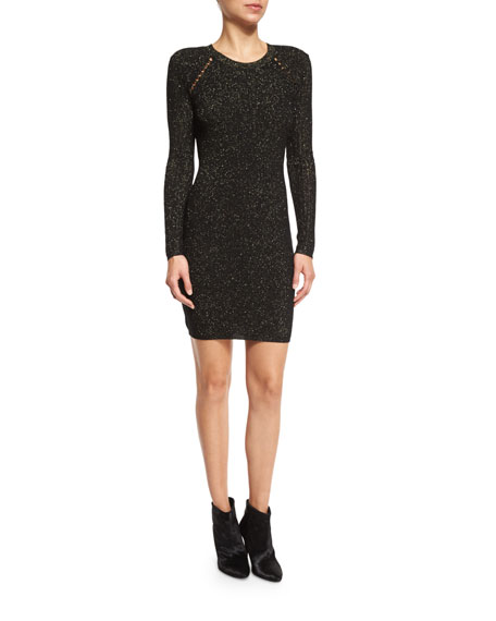Derek Lam 10 Crosby Metallic Jacquard Sheath Dress,